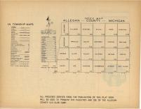 Index Map, Allegan County 1954